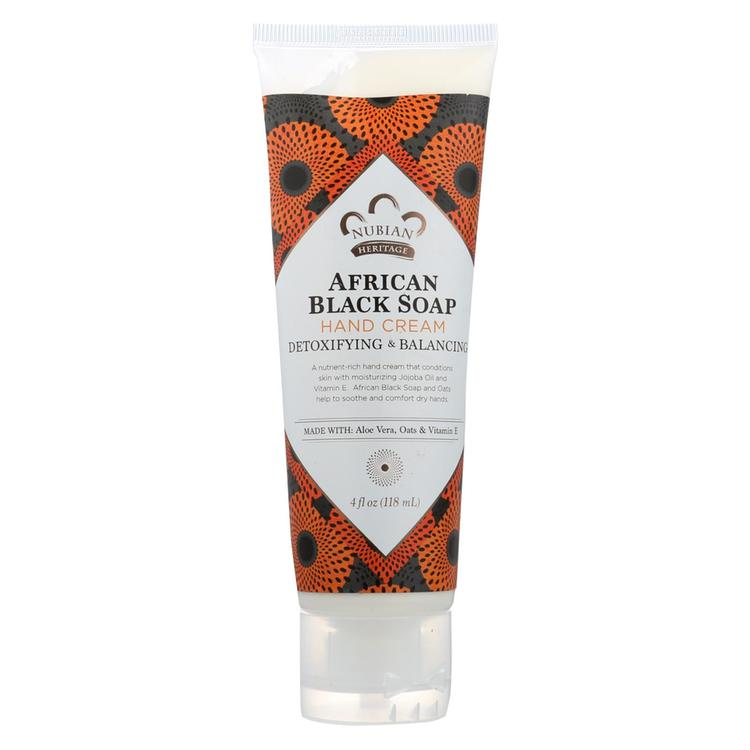 Nubian Heritage Hand Cream African Black Soap - 4 fl oz