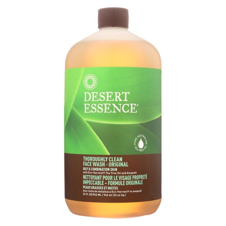 Desert Essence - Thoroughly Clean Face Wash - Original Oily and Combination Skin - 32 fl oz