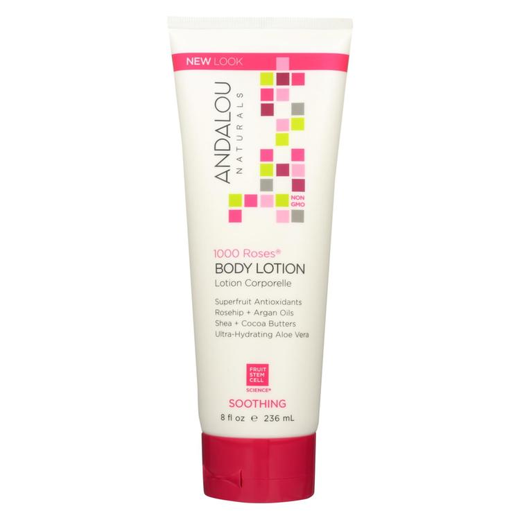 Andalou Naturals Soothing Body Lotion - 1000 Roses - 8 oz