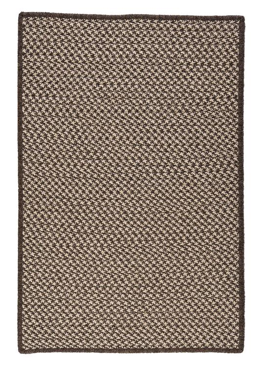 Colonial Mills Natural Wool Houndstooth - Espresso 2'x6' Rectangle Area Rug