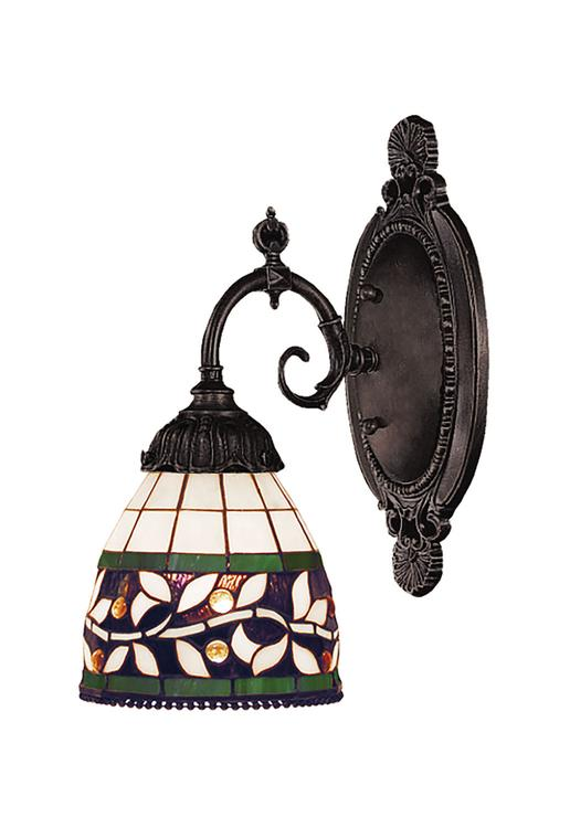Mix-N-Match 1 Light LED Wall Sconce In Tiffany Bronze - 071-TB-13-LED