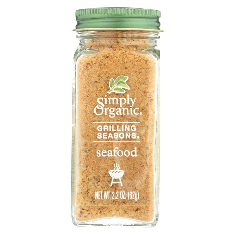 Simply Organic Seafood Grilling Seasons - Case of 6 - 2.2 oz.