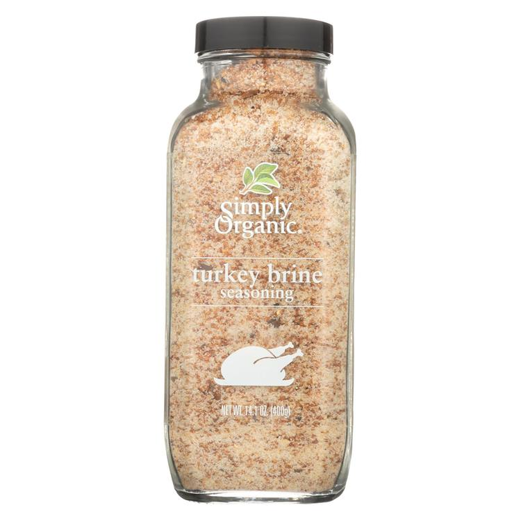 Simply Organic Turkey Brine Seasoning - Case of 6 - 14.1 oz.