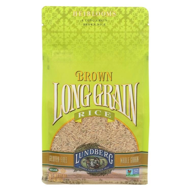 Lundberg Family Farms Long Grain Brown Rice - Case of 6 - 2 lb.