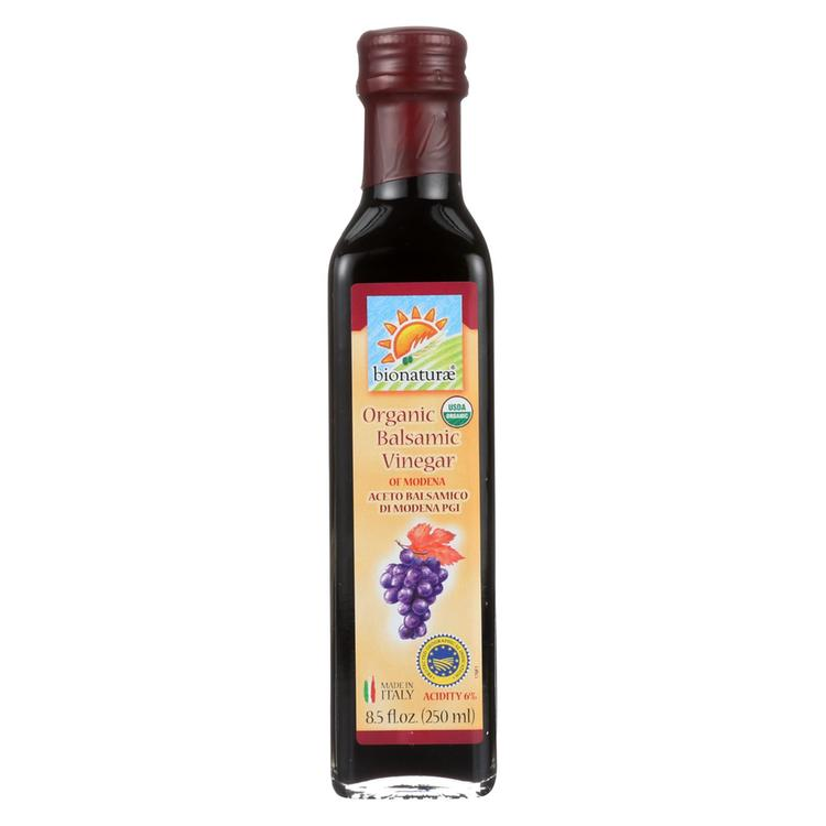 Bionaturae Balsamic Vinegar - Gluten Free - Case of 12 - 8.5 Fl oz.