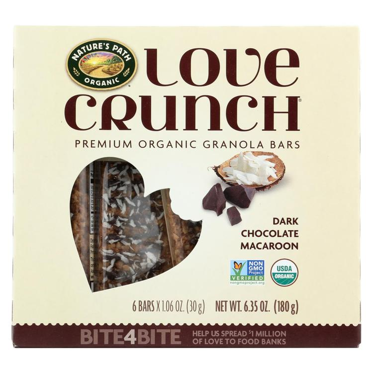 Nature's Path Granola Bar - Organic - Chocolate Macaroon - Case of 12 - 6/1.06oz