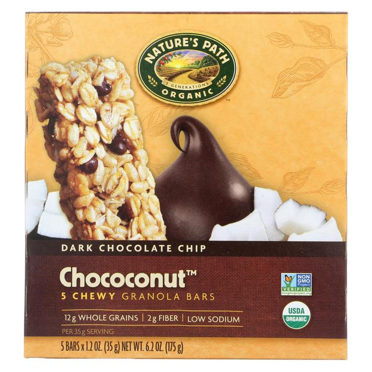 Nature's Path Organic Granola Bar - Chococonut - Case of 6 - 6.2 oz.