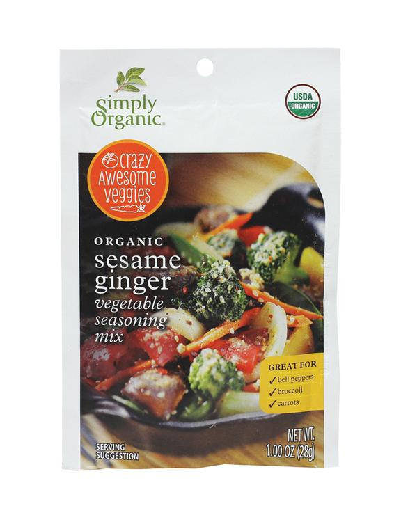 Simply Organic Food Flavor Sesame Ginger Vegetable Seasoning Mix