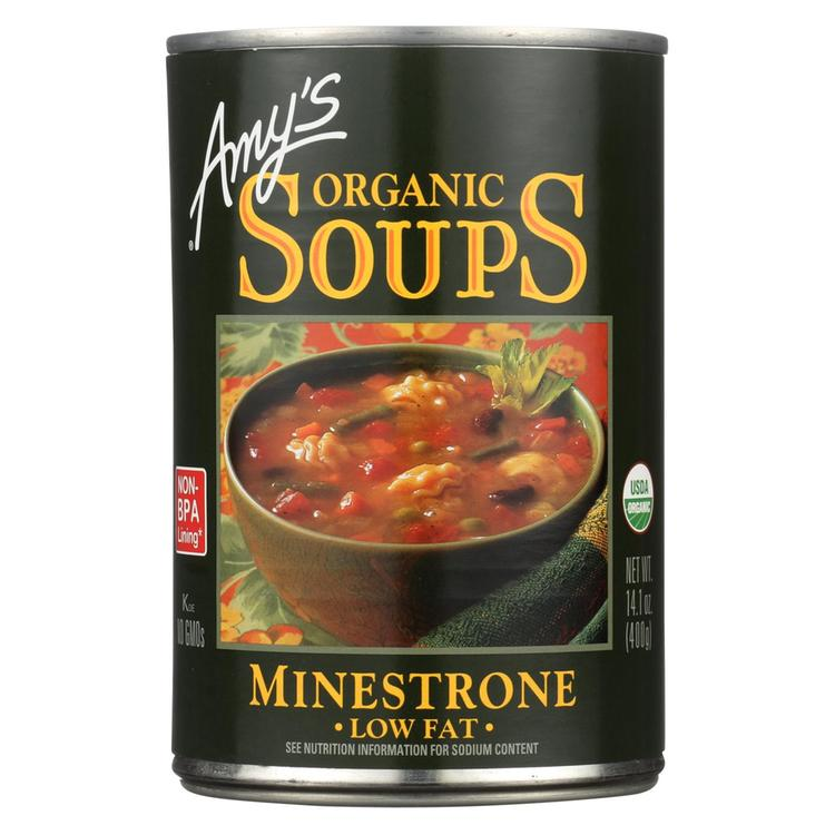 Amy's - Organic Low Fat Minestrone Soup - Case of 12 - 14.1 oz