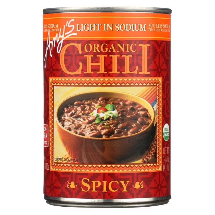 Amy's - Organic Low Sodium Spicy Chili - Case of 12 - 14.7 oz
