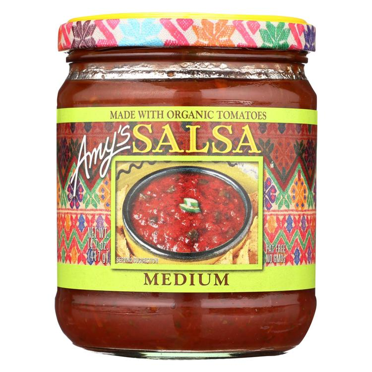 Amy's - Medium Salsa - Made with Organic Ingredients - Case of 6 - 14.7 oz