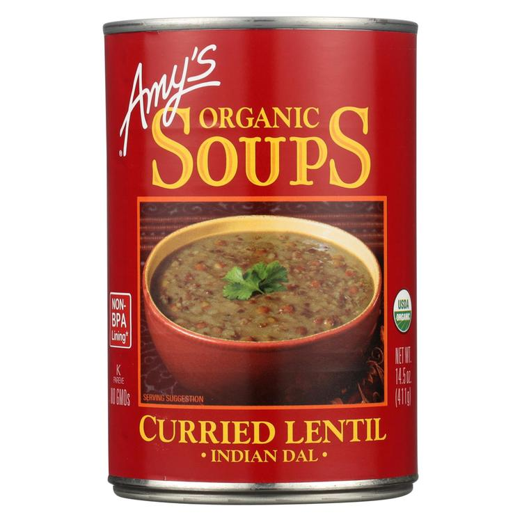 Amy's - Curried Lentil Soup -Made with Organic Ingredients - Case of 12 - 14.5 oz