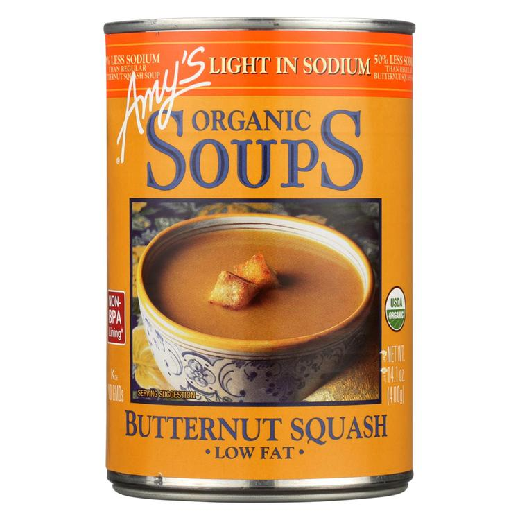Amy's - Organic Low Sodium Butternut Squash Soup - Case of 12 - 14.1 oz