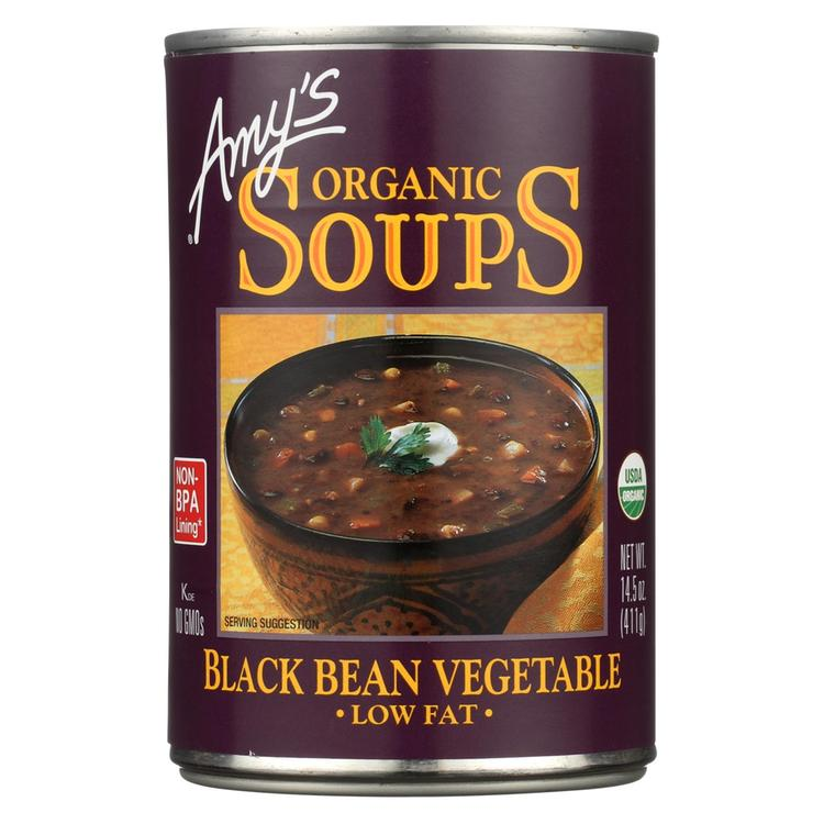 Amy's - Organic Low Fat Black Bean Soup - Case of 12 - 14.5 oz