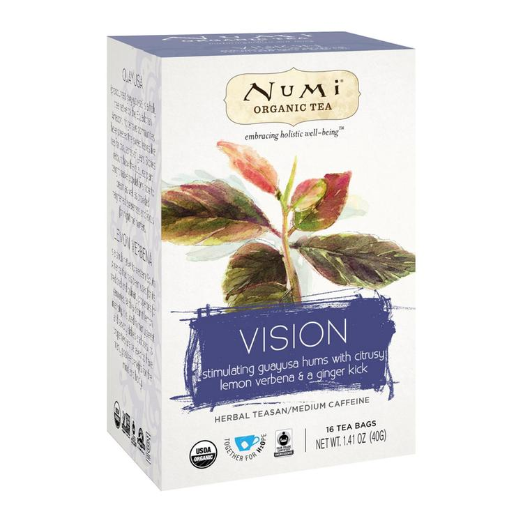 Numi Tea Organic Herb Tea - Vision - Case of 6 - 16 count