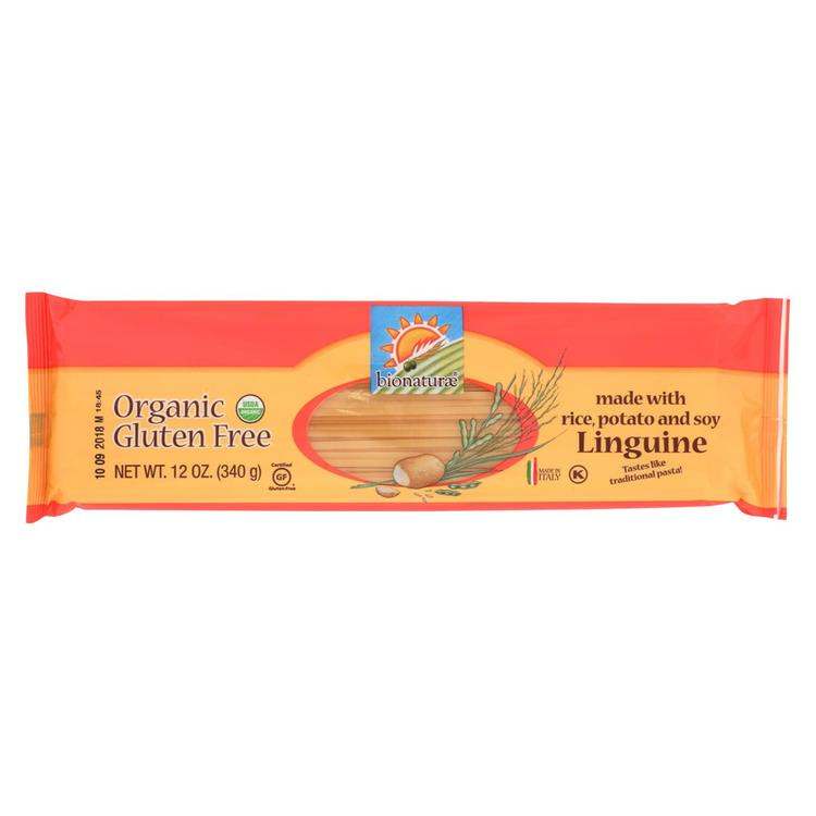 Bionaturae Linguine - Gluten Free - Case of 12 - 12 oz.