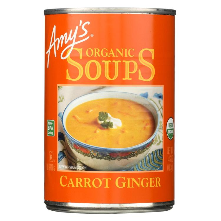 Amy's - Soup Organic Carrot Ginger - Case Of 12 - 14.2 Oz