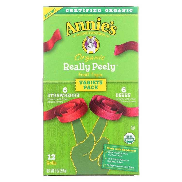 Annie'S Homegrown Fruit Snack Fruit Tape - Case Of 6 - 9 Oz