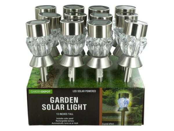 Crystal Effect Solar Power Garden Light Countertop Display