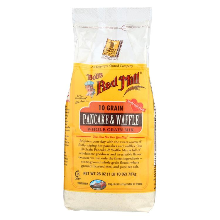 Bob's Red Mill - 10 Grain Pancake and Waffle Mix - 26 oz - Case of 4