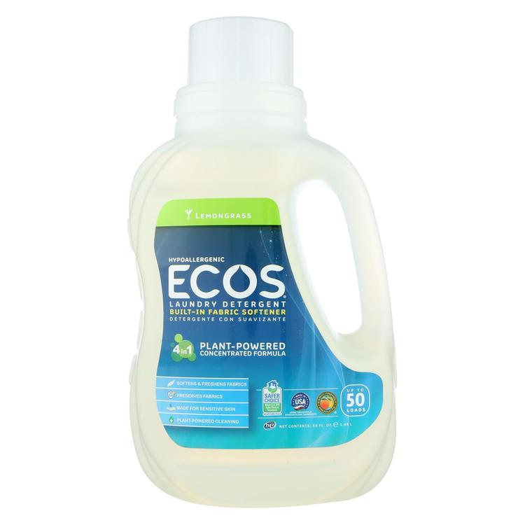 Earth Friendly Laundry Detergent - Lemongrass - Case of 8 - 50 FL oz.