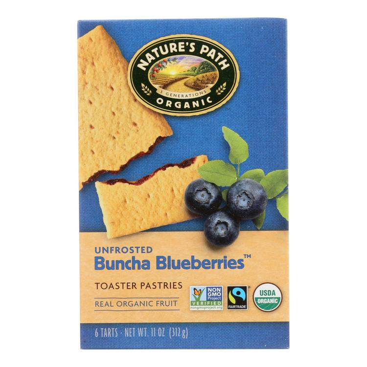 Nature's Path Organic Unfrosted Toaster Pastries - Buncha Blueberries - Case of 12 - 11 oz.