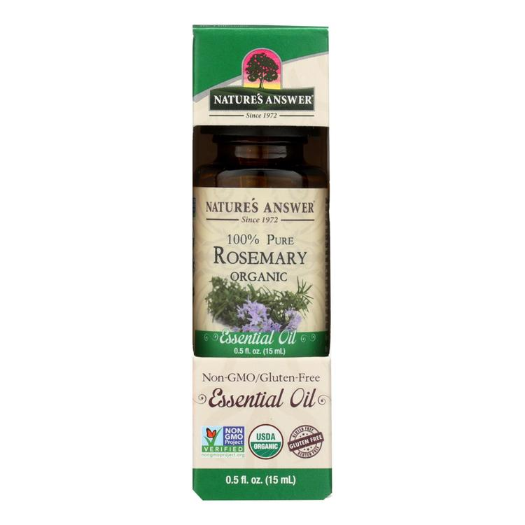 Nature's Answer - Organic Essential Oil - Rosemary - 0.5 oz.