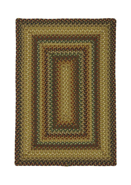 Homespice Decor Canterbury Ultra Wool Braided Rug Rectangle - 1'8