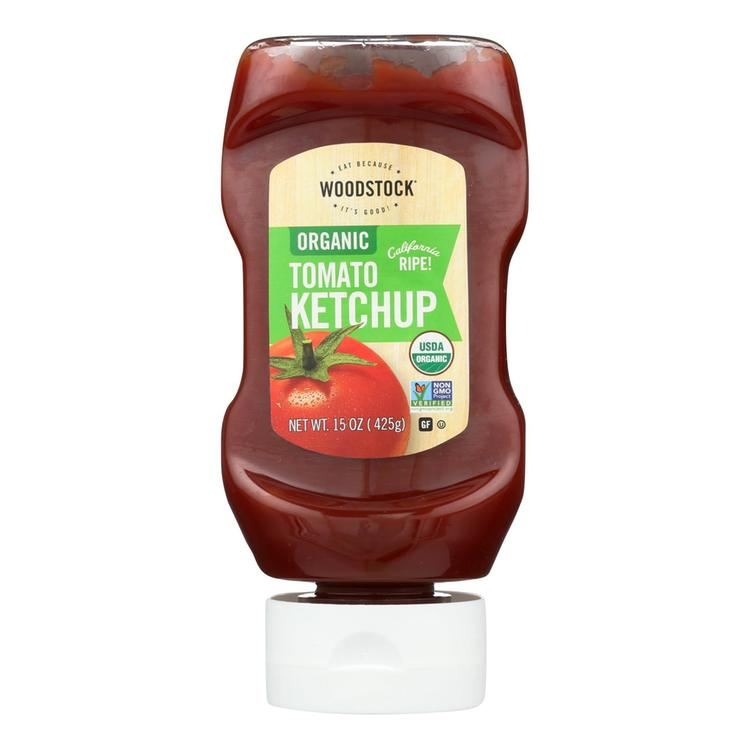 Woodstock Organic Tomato Ketchup - Case of 16 - 15 oz.