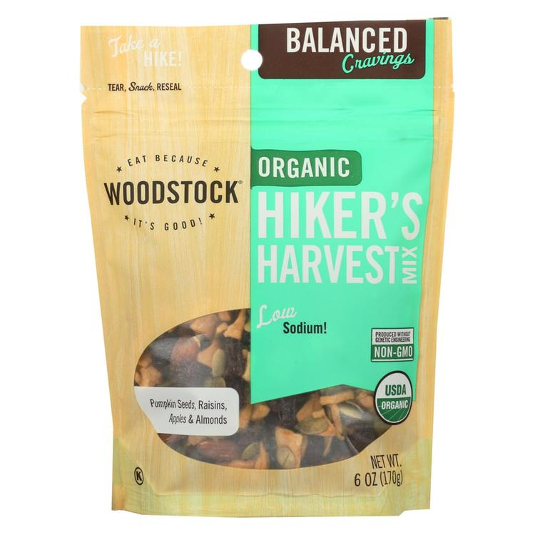 Woodstock Organic Hikers Harvest Snack Mix - Case of 8 - 6 oz.