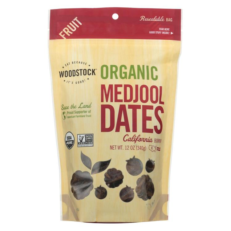 Woodstock Organic Medjool Dates - Case of 8 - 12 oz.