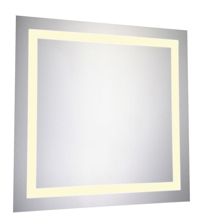"""Elegant Lighting LED Electric Mirror Square 28""""W x 28""""H Dimmable 3000K"""