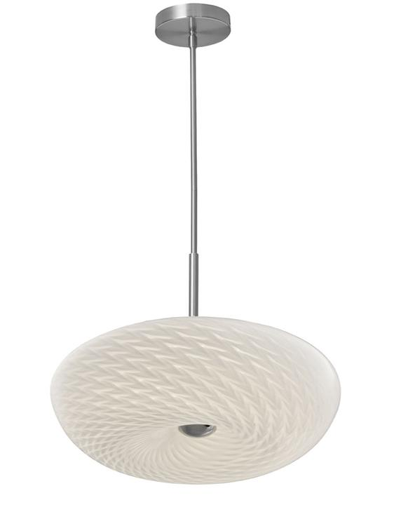 "Dainolite LED Pendant 16"" Mackerel Glass"