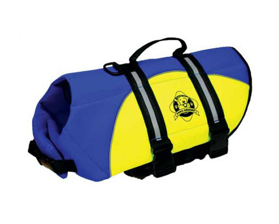 Paws Aboard Extra Large Neoprene Designer Doggy Blue / Yellow Life Guard / Jacket Upto Over 90 lbs