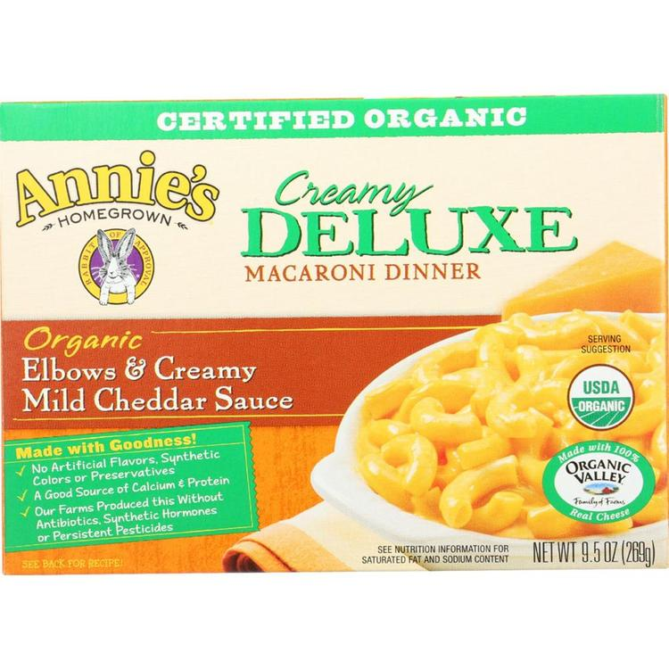 Annie's Homegrown - Creamy Deluxe Macaroni & Cheese ( 12 - 9.5 OZ)