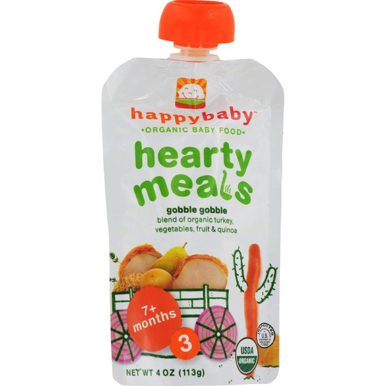 Happy Family - Organic Baby Food Stage 3 - Gobble Gobble ( 16 - 4 OZ)