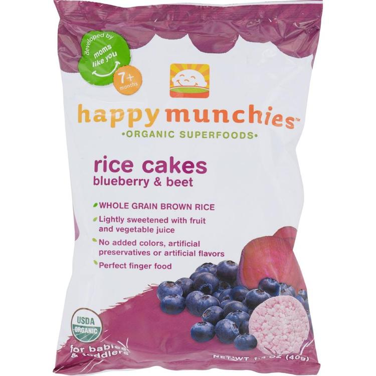 Happy Family - Happy Munchies Rice Cakes - Organic Blueberry And Beet ( 10 - 1.4 OZ)