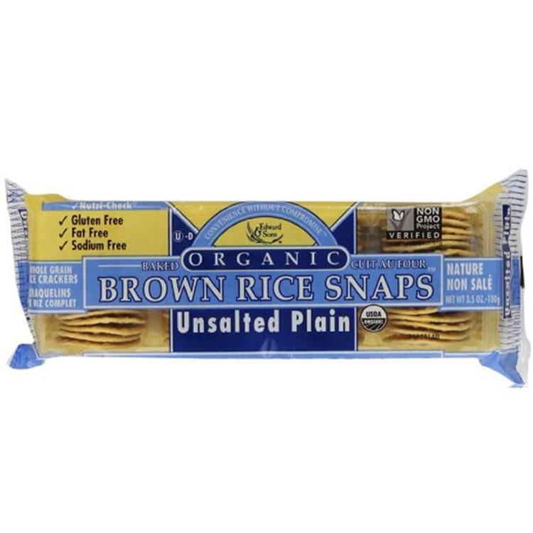 Edward & Sons - Unsalted Plain Brown Rice Snaps ( 12 - 3.5 OZ)