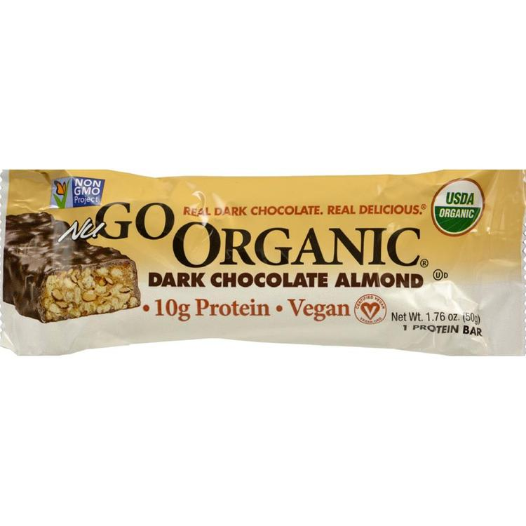 Nugo Nutrition - Organic Dark Chocolate Almond Bar ( 12 - 1.76 OZ)
