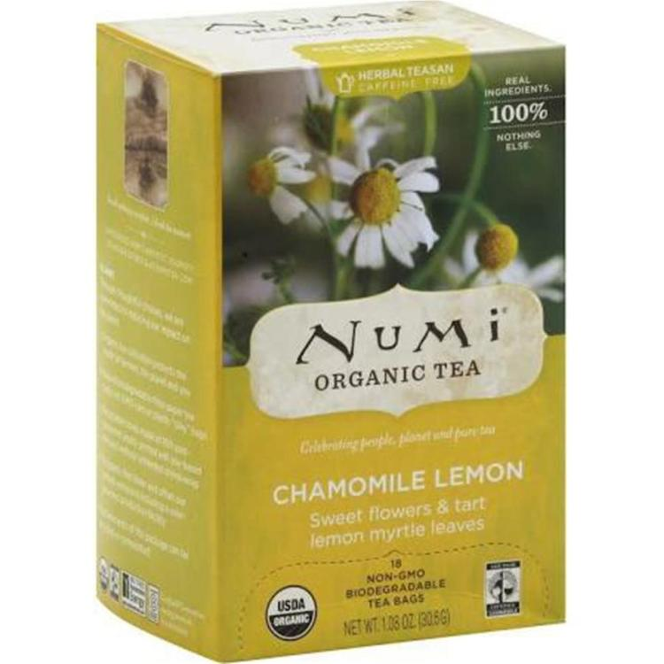 Numi Tea - Organic Caffeine Free Chamomile Lemon Tea ( 6 - 18 BAG)
