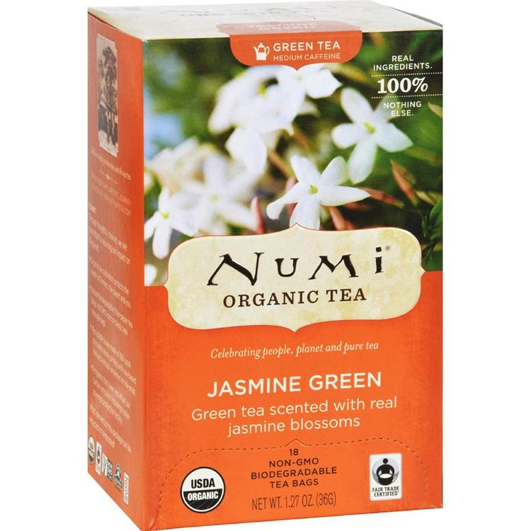 Numi Tea - Jasmine Medium Caffeine Green Tea ( 2 - 18 BAG)