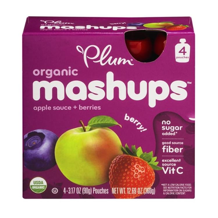 Plum Organics - Mixed Berry Mashups ( 24 - 3.17OZ)