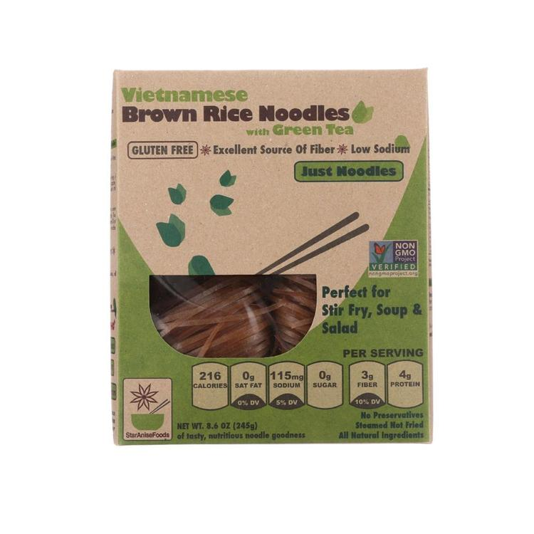 Star Anise Foods - Brown Rice Noodles With Green Tea ( 6 - 8.6 OZ)