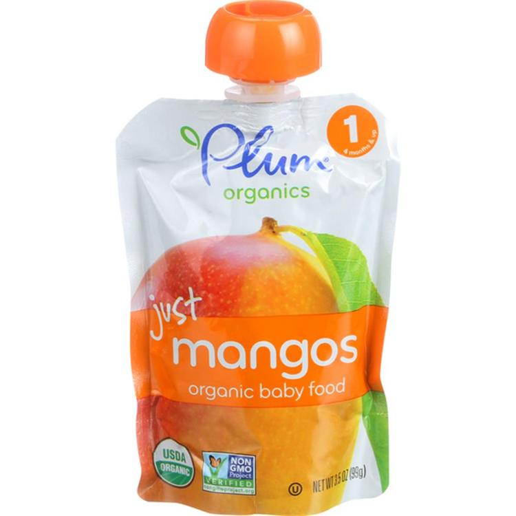 Plum Organics - Just Mangos Baby Food ( 6 - 3.5 OZ)