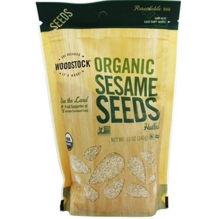 Woodstock Farms - Raw Hulled Organic Sesame Seeds ( 8 - 12 OZ)