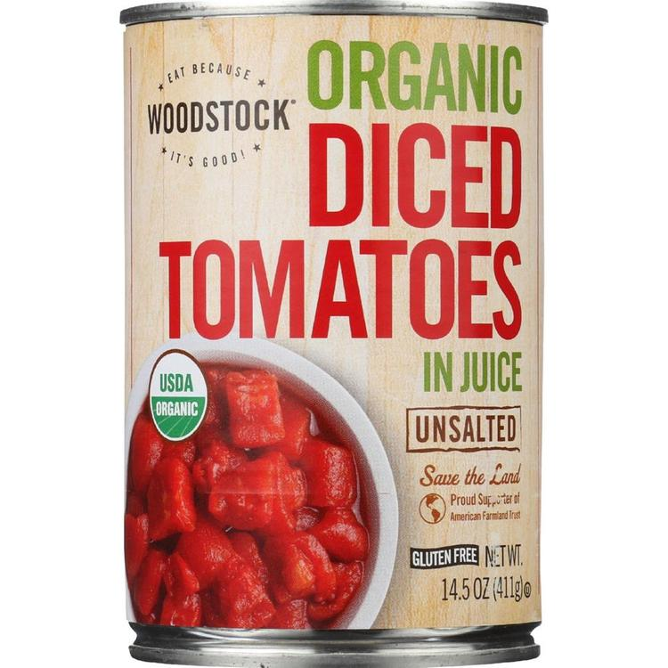 Woodstock Farms - Unsalted Organic Tomatoes Diced ( 12 - 14.5 OZ)