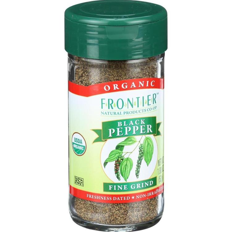 Frontier Herb - Organic Fine Ground Black Pepper ( 2 - 1.8 OZ)