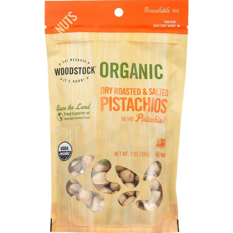 Woodstock Farms - Organic Pistachios Roasted& Salted ( 8 - 7 OZ)