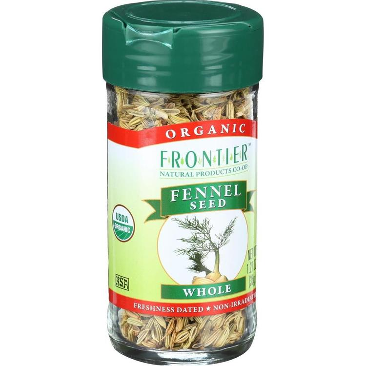 Frontier Herb - Whole Organic Fennel Seed ( 2 - 1.28 OZ)