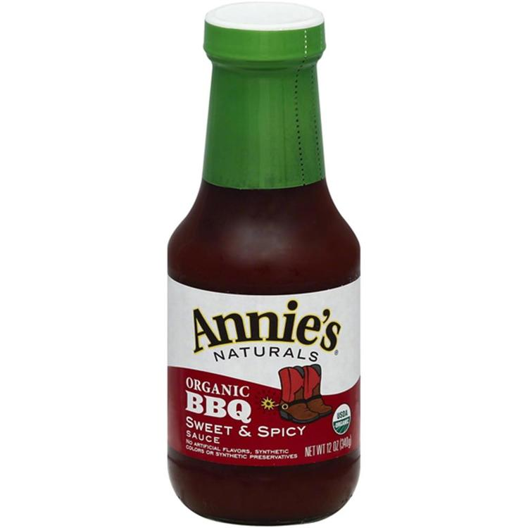 Annie's Homegrown - Organic Sweet & Spicy Barbecue Sauce ( 12 - 12 oz bottles)